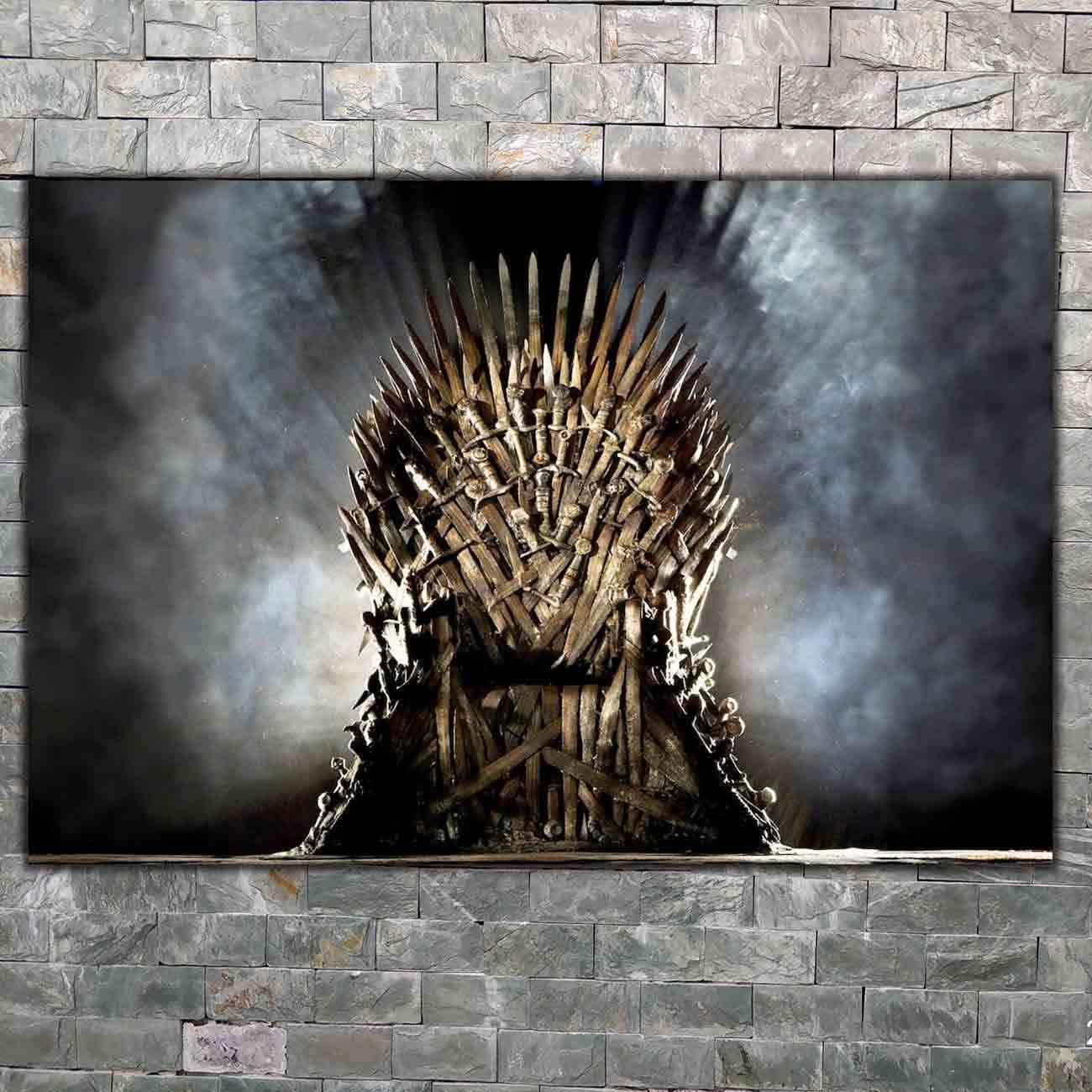 Seni Poster Thrones Jon Snow Daenerys Dinding Kanvas Cetak Lukisan Modern Rumah Decor8x12 14X21 12X18 24X36 27X40