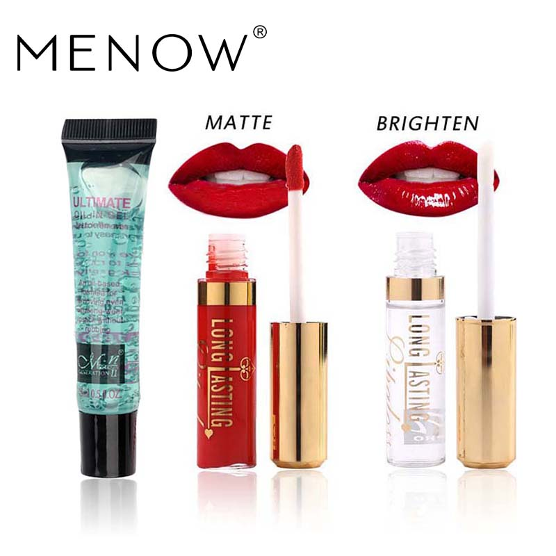 Menow Brand Make Up Set 15ml Lipstick Natural Remover Oil