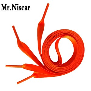 Mr. Niscar 1 пара 50-200 см ширина 2 см оранжевые модные шнурки женские Шнурки плоские шелковые атласные Ленточные шнурки для обуви шнурки