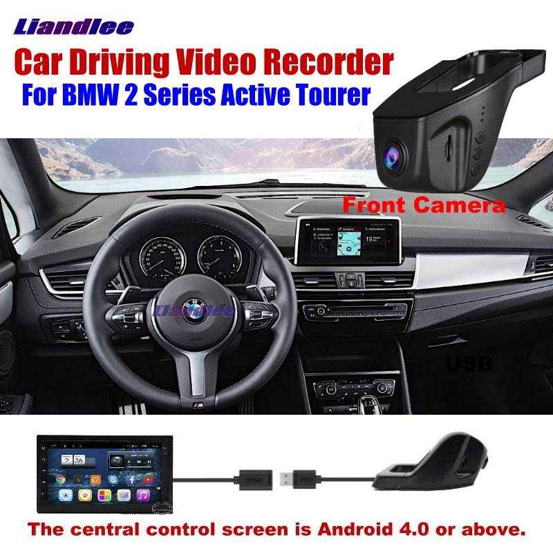 Liandlee Car DVR Front Camera Driving Video Recorder USB Plug For BMW 2 Series Active Tourer Android Screen AUTO Dashcam
