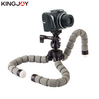 Kingjoy Official KT 600S Mini Tripod Octopus Para Movil Flexible Mobile Celular Holder For Phone Camera Smartphone Gopro Stand