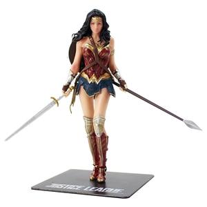 Image 4 - Figura prepintada de la Liga de la justicia de los vengadores, estatua de superhéroes de PVC, Flash Batman, Superman, Wonder Woman, ARTFX, escala 1/10, 18cm