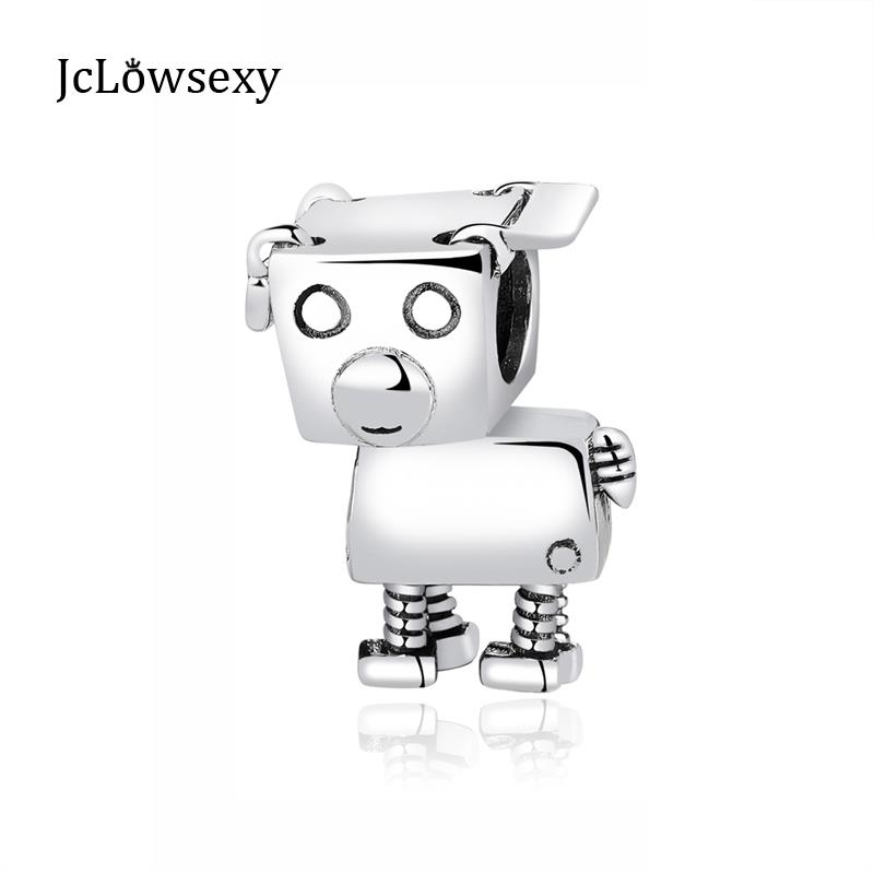 Beads & Jewelry Making Jewelry & Accessories New Original 100% 925 Sterling Silver Bead Charm Robot Dog Charms Love Pet Fit Pandora Bracelets Women Diy Jewelry Making