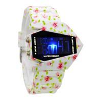 WAOUKS DOPROWADZIŁY elektroniczny zegarek mody nowy zegarek tabeli ceramiczne tatuaż plastik samolot dzieci mężczyźni i kobiety