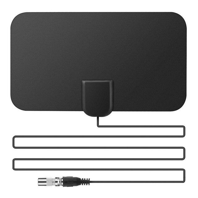 SOONHUA wewnętrzna darmowa cyfrowa antena telewizyjna 50 mil 25DB wzmocnienie antena hdtv Mini antena telewizyjna TV Surf HD TV dla VHF UHF DVB-T2 wtyczka amerykańska