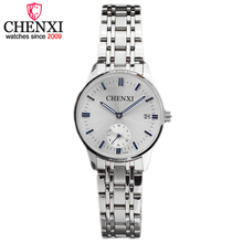 CHENXI Brand Relogio Feminino Date Day Clock Female Watches Fashion Steel Watch Ladies Unique Small Dial Quart Women Wristwatch