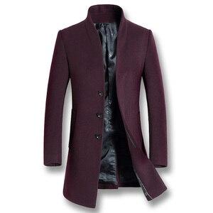 Image 4 - ISurvivor 2020 גברים עסקים מקרית צמר מעילי מעילי Hombre זכר האופנה Slim Fit גודל גדול חורף סתיו מעילי מעיילים