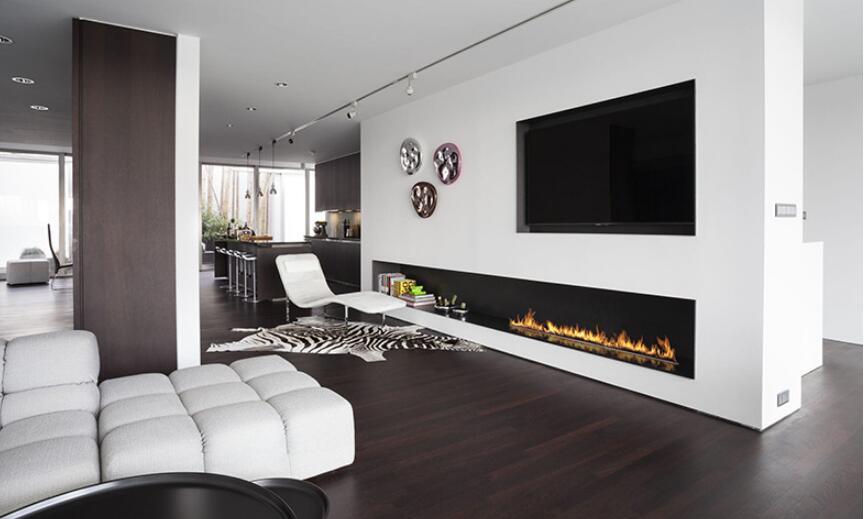 60 Inch Wifi Real Fire Intelligent Smart Ethanol Fire Pit Burner