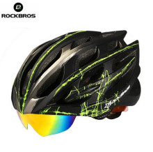 ROCKBROS Bicycle Cycling Helmets With Glasses 3 Lens Ultralight Men Women Full Protcect MTB Road Bike