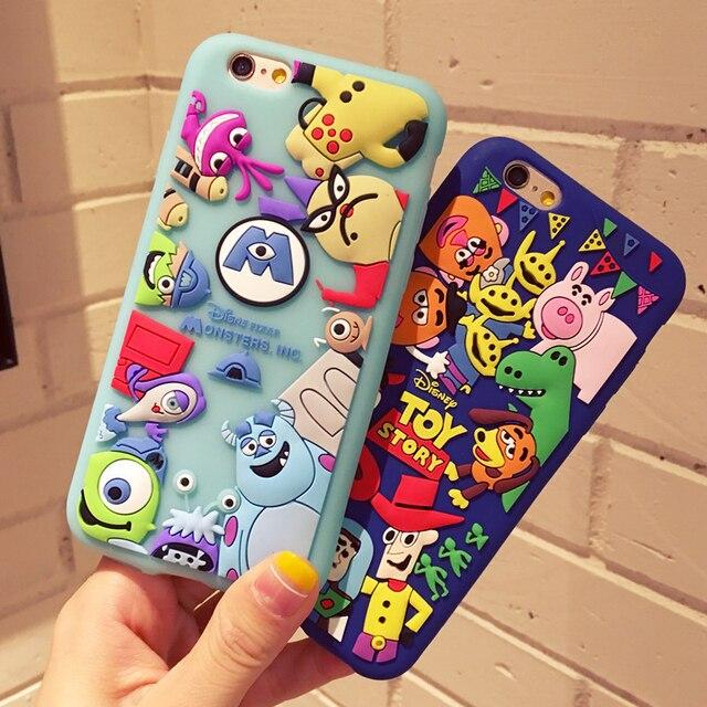 Япония Корея мультфильм 3D История игрушек три глаза Силиконовый чехол для iPhone 6 7 8 Plus X XR XS MAX S7 S8 S8p S9 S9p телефон случаях