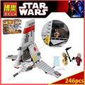 BELA 10372 Compatible Legoes Clásico Starwars T-16 Skyhopper 75081 Ladrillos de Construcción de Juguetes para Los Niños