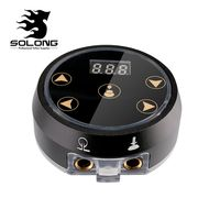 Solong Tattoo New Critical Aurora Tattoo Power Supply Made of Aluminium For Tattoo Machine Tattoo Supplies P178 A