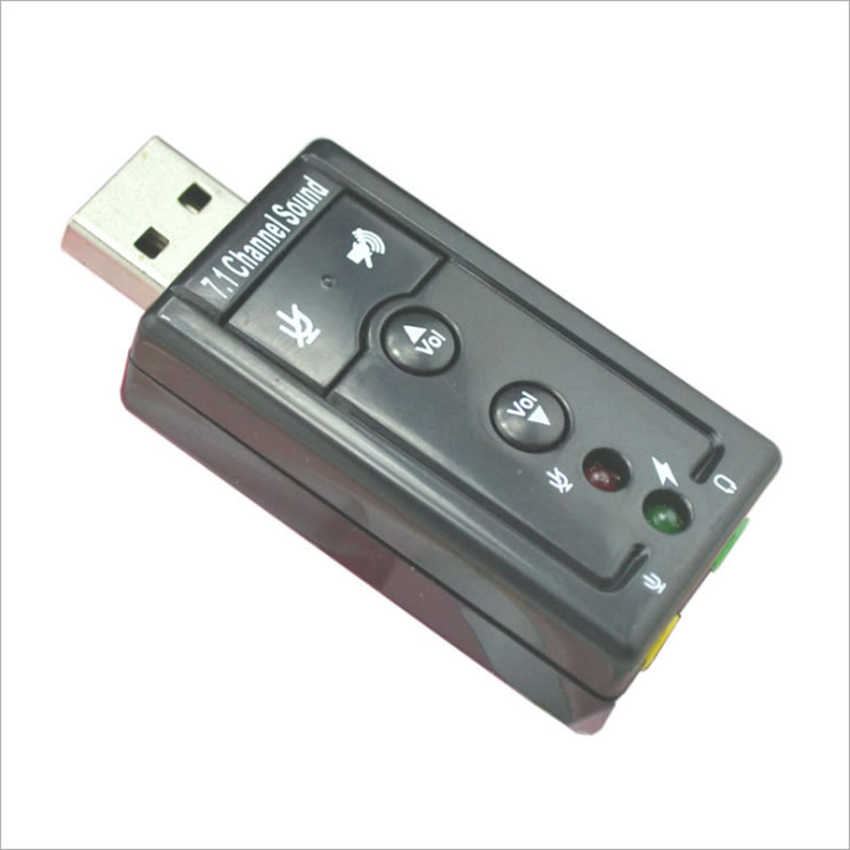 Аналоговый 7,1 компьютер внешний USB 2,0 стерео звуковая карта с 3,5 мм наушники и микрофон разъем для окна Mac ноутбук