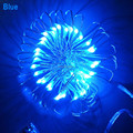 5M 50 LEDs Copper / SilverWire Led String Lights 3pcs AA Battery Operated Fairy Party Wedding Christmas Waterproof LED Strip