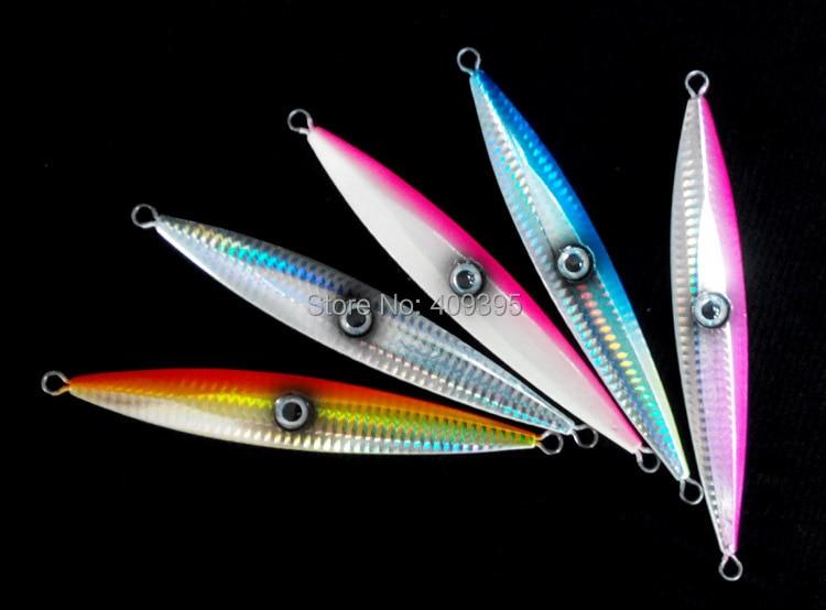 5pcs 200g/150g/120g metal jig Lead fish Lead Jigs sea fishing lure game fishing knife jig fake lure assist hook jigging hook