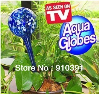 Free Shipping,NO Retail Pack AQUA GLOBES Magic glass Automatic plant waterer as automatic watering tool for garden AS SEEN ON TV
