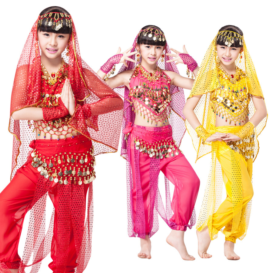 Girls Aladdin's Lamp Jasmine Princess Costumes Cosplay For Children Halloween Party Belly Dance Dress Indian Princess Costume children egyptian pharaoh costumes 2016 new cosplay masquerade halloween childen kid suit cleopatra royal fantasia disfraces