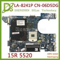 KEFU QCL00 LA 8241P motherboard CN 06D5DG 06D5DG 6D5DG for dell Inspiron 15R 5520 7520 laptop motherboard HD7670M dell 5520