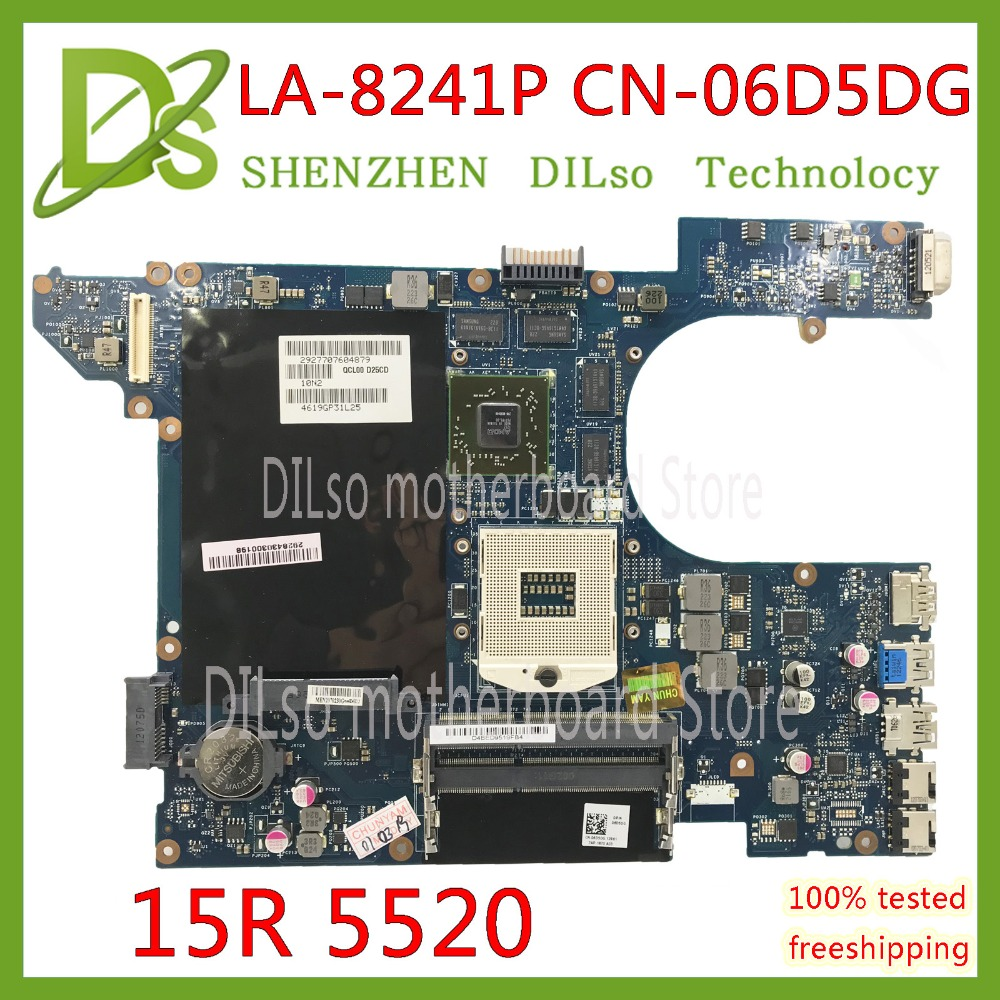 KEFU QCL00 LA-8241P motherboard CN-06D5DG 06D5DG 15R 6D5DG para dell Inspiron 5520 7520 laptop motherboard dell 5520 HD7670M