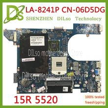 KEFU QCL00 LA-8241P motherboard CN-06D5DG 06D5DG 6D5DG for dell Inspiron 15R 5520 7520 laptop motherboard HD7670M dell 5520(China)