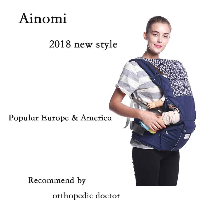 Ainomi 2018 NEW cotton Baby Carrier Ergonomic Carrier Backpack Hipseat for newborn and prevent o-type legs sling baby Kangaroos free shipping luxury baby carrier hip seat for newborn and prevent o type legs sling baby kangaroos