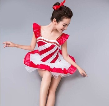 Free Shipping Adult Girls Red Bailarina Balet Dance Professional Ballet Costume Professional Classical Ballet Tutu For Sale