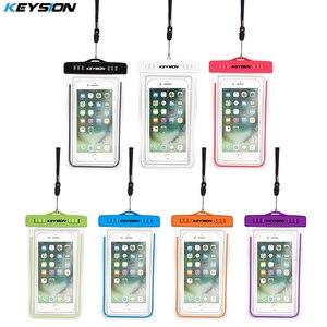 KEYSION водонепроницаемый чехол для телефона Samsung Galaxy A50 A30 xiaomi mi9 redmi note 7 светящийся подводный чехол для iPhone xr 6s