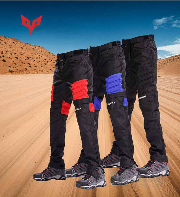 ФОТО DUHAN motorcycle racing pant motorbike pants off-road moto riding trousers black blue red color