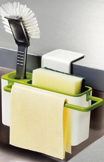 Kitchen Soap Caddy Table With Storage Underneath Creative Home Shelving Rack Cleaning Supplies Sink And Sponge Holder