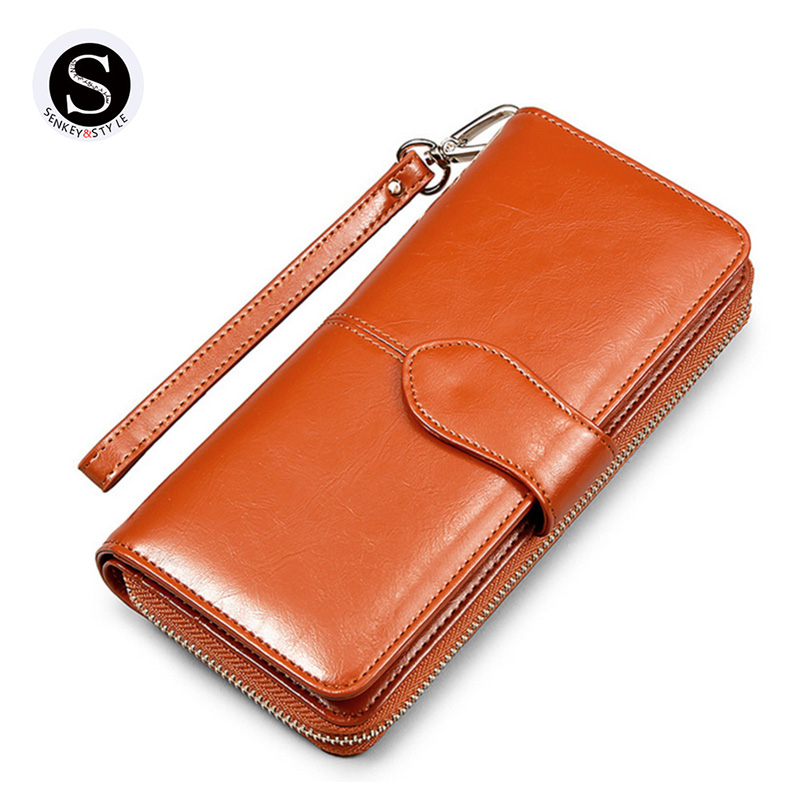 Senkey Style Retro Buckle Long Leather 2017 Fashion Womens Wallets And Purses Money Clip 2 Fold Purse Wallet Women Luxury Brand hot free 6in1 combination of activities head ratchet wrench car repair parts hand tools wrench a set of keys 8 9 10 11 12 13