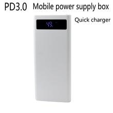 PD3.0 quick lading QC3.0 mobiele voeding sectie 8 suites 18650 voeding doos DIY opladen MICRO TYPE E apple Geen batterij
