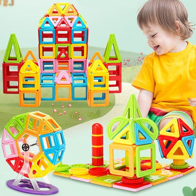 1Pcs Big Size Magnetic Blocks 3D DIY Modeling Construction Building Blocks Magnetic Designer Educational Toys for Children Gifts