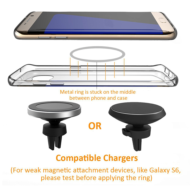 360 Degree Rotation QI Standard Phone Car Magnetic Wireless Charger Air Vent Holder For Samsung Galaxy S8 S8 Plus S7 Edge S7 (11)