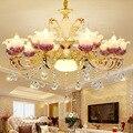 Европейская Хрустальная светодиодная люстра из цинкового сплава  подвесные светильники для гостиной  спальни  ресторана  светильники  роск...
