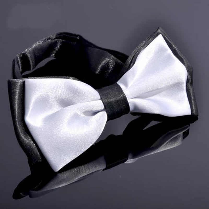 رجل اثنين من لهجة بدلة عمل برقبة مشبك قابل للتعديل جيب نقي ساحة منديل حفلة انيفيراري #5034 أسود/أبيض