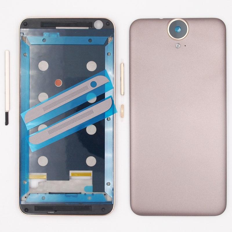 Цена за 100% новый отдел кадров батарейного отсека задняя крышка корпуса для HTC One E9 плюс E9 + E9PW E9PT с Мощность Кнопки громкости