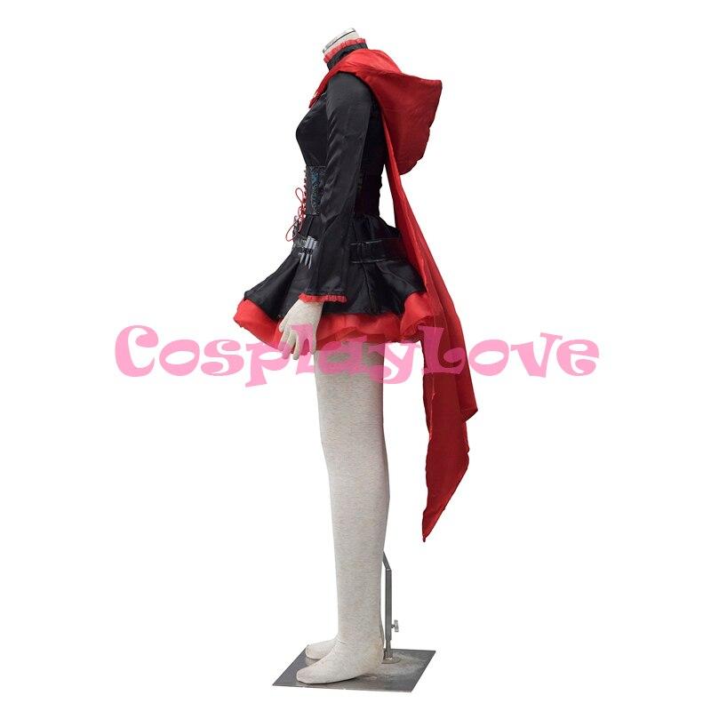 Բարձրորակ RWBY Red Trailer Ruby Rose Cosplay Costume RWBY - Կարնավալային հագուստները - Լուսանկար 3