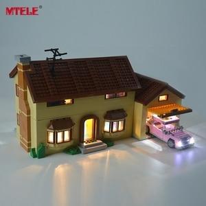 Image 3 - MTELE led ışık kiti 71006 Simpson evi ışık seti ile uyumlu 16005 (dahil değil Model)