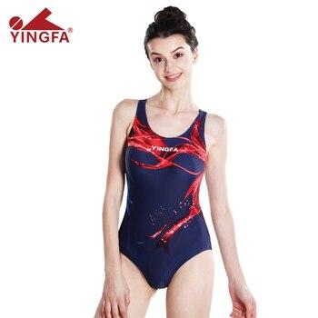 6102f190b204 YINGFA 921 aprobado una pieza entrenamiento competición traje de baño mujer  impermeable sharkskin ...