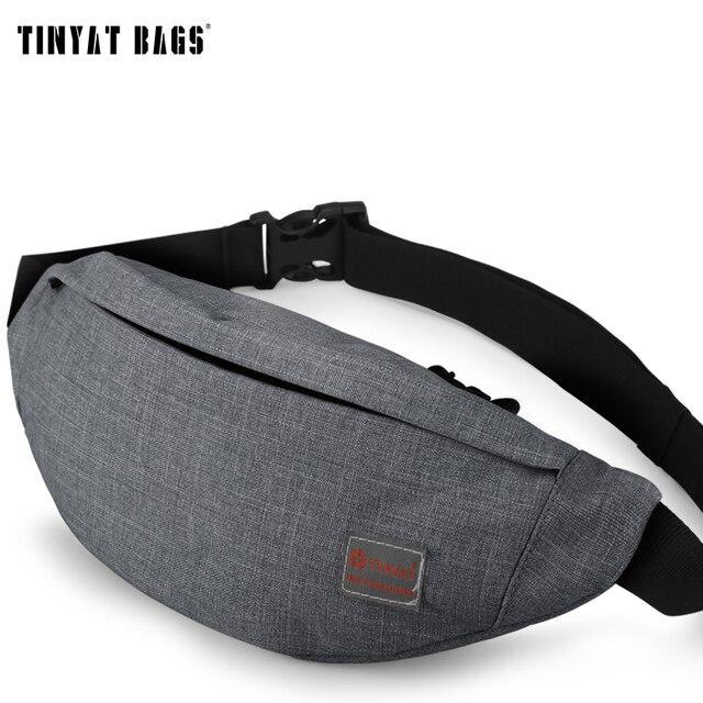 Tinyat Для мужчин мужской Повседневное функциональная поясная сумка талии сумка Деньги Телефон поясная сумка t201 серый черный