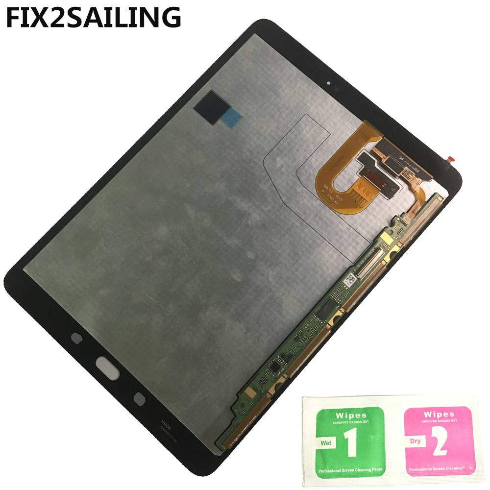 100% Tested LCD Display with Touch Screen Digitizer Sensors Full Assembly Panel For Samsung GALAXY Tab S3 9.7 T820 T825 T827 new 8 for samsung galaxy tab a p350 lcd display with touch screen digitizer sensors full assembly panel lcd combo replacement
