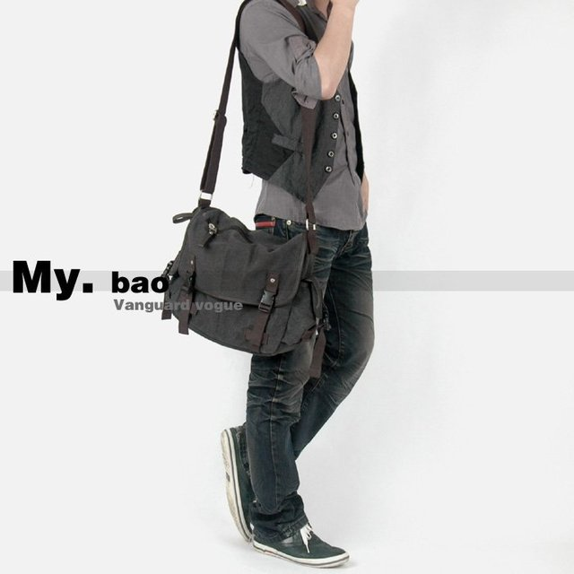 Aliexpress.com : Buy High grade Canvas man handbag / Man messenger ...