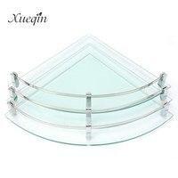 Xueqin Glass Bathroom Bath Shower Shelf Rack Organizer Holder Triangle 1 2 3 Tier Wall Mounted