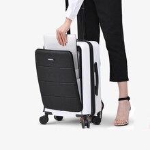 """جديد المرأة الكمبيوتر المقصورة السفر عربة حقيبة 18 """"20"""" بوصة تاس قفل تحمل على الرجال المتداول الأمتعة على عجلات مع حقيبة لابتوب حقيبة السفر"""