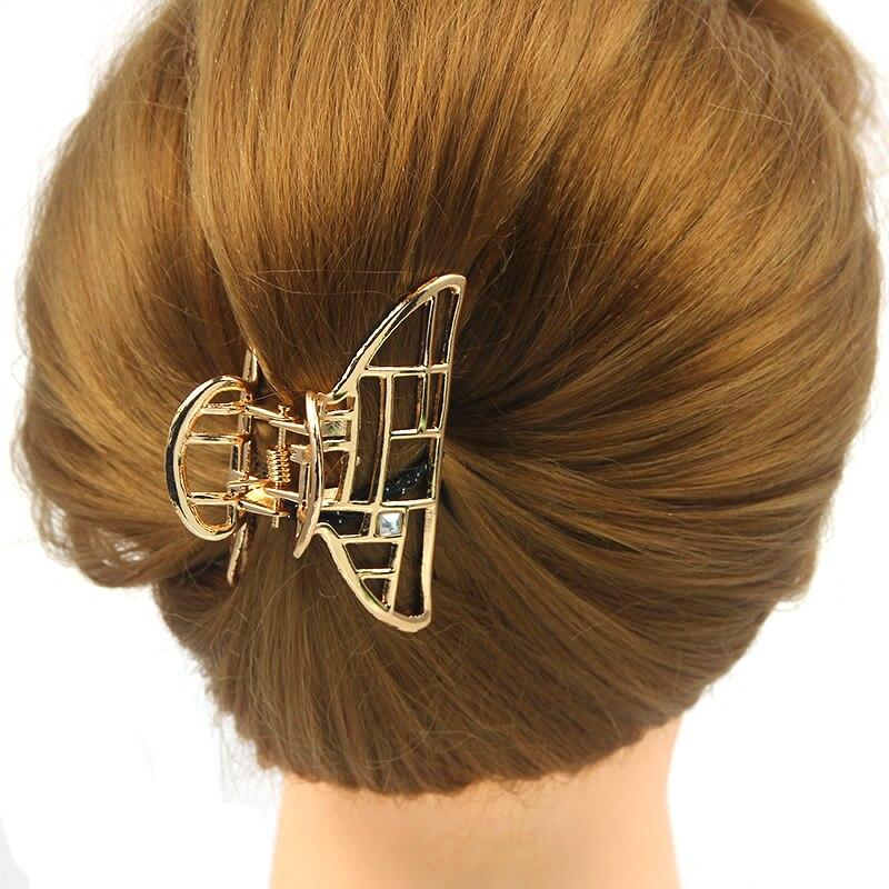 2018 Fashion Hollow Hair Claws for Women Hair Barrette Hairpin Crab Metal Hair Claw Clips for Women Hair Accessories Headwear