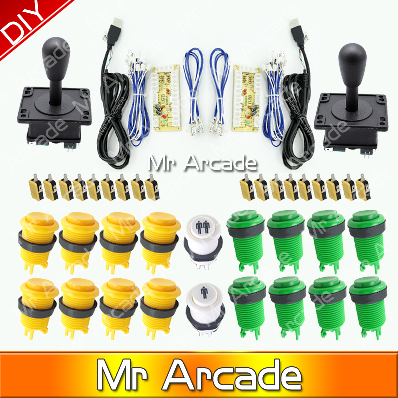 Free shipping Arcade Game DIY Parts for Mame USB Zero Delay USB Encoder 8 Way Classic Arcade Joystick Classic Arcade Push Button usb mame