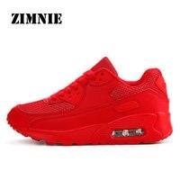 ZIMNIE Air Mesh/женская и мужская легкая спортивная обувь для бега; дышащие мягкие спортивные кроссовки для бега