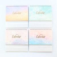 Domikee Новый 2019 год настольные календари книги, конфеты офис школы стол ежедневник канцелярские принадлежности, 4 вида цветов, 14 месяцев