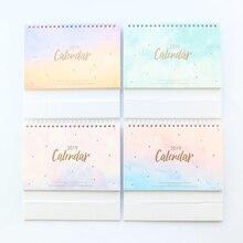 Domikee New 2019 year desk calendars book,candy office school desk calendar agenda planner stationery supplies,4 colors,14months