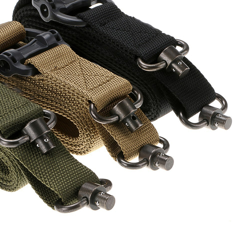 Caza de Airsoft Tactical Rifle Sling Correa Quick Separar QD Swivel Dual Dos 2 P